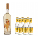 Contratto Vermouth Bianco 0,75l mit 6 Fevertree Indian Premium Tonic 0,2l - Aperitivo Set